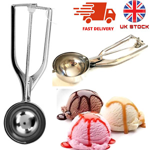 Stainless Steel Ice Cream Scoop / Mashed Potatoes 5.4cm Metal Premium Quality UK