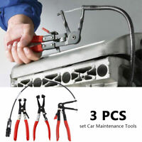 3pc Car Maintenance Repair Scraper Hook Pick Clips Seals Bushes Removal Tool Set