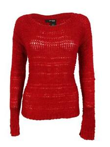 DKNY Women's Wool Blend Sweater (PL, Red)