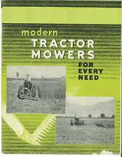 Ihc Ih Modern Tractor Mowers For Every Need Mccormick Sickle Brochure Farmall