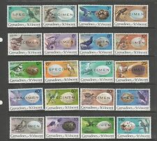 St Vincent grens1978 Defs, Birds & their Eggs, Optd SPECIMEN, UM/MNH SG 110/129