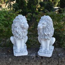 Sonderangebot: Große massive Stein Löwen Paar Torwächter aus Steinguss frostfest