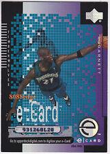 2000-01 UPPER DECK e-CARD: KEVIN GARNETT #EC2 TIMBERWOLVES/CELTICS USED CODE