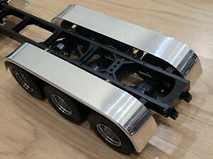 Use Pair Aluminum Rear Tri 3 Axles Fender + Mount Tamiya 1/14 King Grand Hauler
