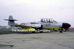 Royal Navy FRU Gloster Meteor TT.20 WD649 at Hurn (1969) Photograph