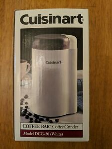NEW Cuisinart Grind Central Coffee Grinder 2.5 Ounce Capacity Dcg-20 NIB White