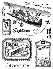 Tampons transparents Viva ADVENTURE scrapbooking carterie clear stamps