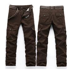 Men's Combat Cotton Cargo Pants Military Camouflage Camo Trousers