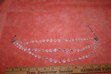 "Vintage Marked Continental Austrian Crystal 3 Strands Necklace 17 3/4"""
