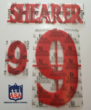 SHEARER 9 England Home Euro 2000 Player Size Lextra Red Print Nameset