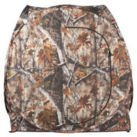 Portable Hunting Waterproof Pop Up Camouflage Ground Blind w/ Mesh Windows