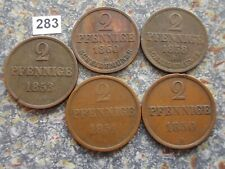 Braunschweig Calenberg Hannover 2 Pfennige 1850 1851 1853 1858 1860 Ernst August