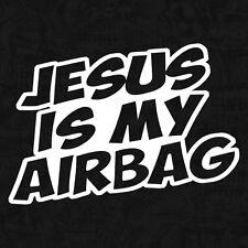 Jesus Is My Airbag oldtimer ratte spruch shocker Sticker Auto Aufkleber JDM 15cm