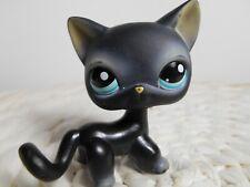 petshop authentic littlest LPS cht européen noir yx bleu black european cat #994