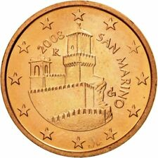[#582003] San Marino, 5 Euro Cent, 2008, SPL, Copper Plated Steel, KM:442
