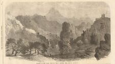 1862-ANTIQUE PRINT-CHINA-PART OF GREAT WALL-PASS OF SHA PO YU