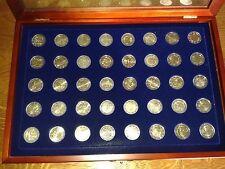 vitrine de 40 pièces commémoratives de 2 euros 2010-2013