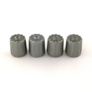 4 x TPMS Valve Dust Caps TMPS Valve Covers Silver Grey