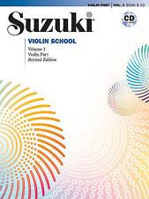SUZUKI VIOLIN SCHOOL MUSIC BOOK & CD VOLUME 1 REVISED EDITION BRAND NEW ON SALE!