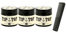 TIP TOP Original Water Based Pomade 4.25oz 3 Pack Free Comb NEW