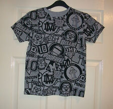 BOYS LOVELY GREY & BLACK DESPICABLE ME MOTIF T- SHIRT / TOP AGE 10-11 YEARS BNWT