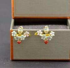 Pretty Oro Placcato Orecchini Uccello da LES Nereides-gratis UK P & P....... cg0724