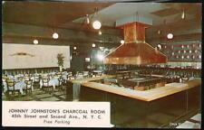 NYC NY Johnny Johnston's Charcoal Room Restaurant Vtg