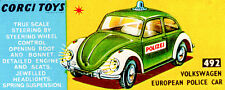 Corgi 492 Volkswagen European Police Car Empty Repro Box Only