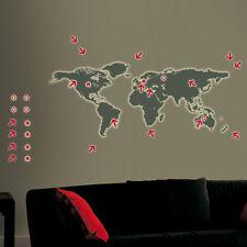 Wandtattoos Glow in the Dark - Weltkarte 70x100 cm / Sticker leuchten im Dunkeln