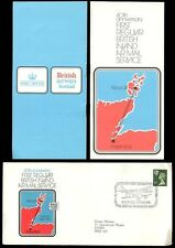 SCOTLAND 1974 INLAND AIRMAIL SERVICE 3 1/2p ILLUSTRATED COVER + PMK + BOOKLET L1