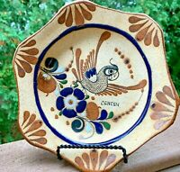 Mexican Pottery CANCUN Mexico Handcrafted Bowl Dish Bowl Hand Painted