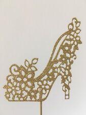 Oro brillo Zapato Cake Topper
