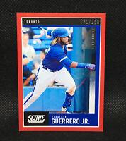#/100! 🚨2020 Score Vladimir Guerrero Jr. Red Toronto Blue Jays #29