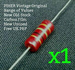 PIHER Vintage Resistor 1W 5% NOS Range 270R 330R 390R 560R 680R 1.8K 3.3K Ohm