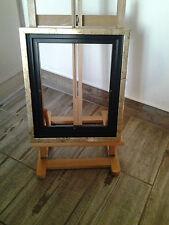 Encadrement Caisse américaine en bois , Satinée Noire et Dorée ,Format Figure