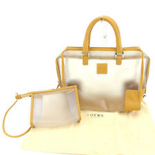 Loewe Handbag Monogram Mini Agenda clear Beige Woman unisex Authentic Used K456