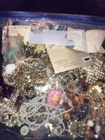 Huge Vintage Lot Of Estate Find Jewelry Clipped earrings Pins Necklaces