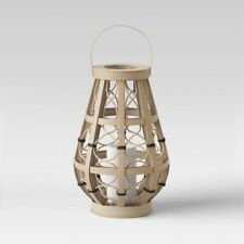 New listing Opalhouse Woven Ogee Outdoor Lantern   Natural   🆕