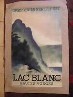 Affiche Originale Chemins de Fer de L'Est Lac Blanc Hautes Vosges Théo Doro 1930