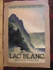 Poster Original Chemins iron of the'Is Lake White Hautes Vosges Theo Doro 1930