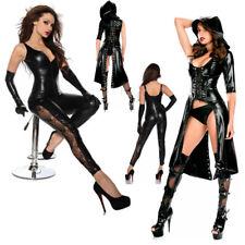 Wet-Look Overall Jumpsuit CATSUIT Gogo Costume Clubwear Pelle-Look BODY TUTA M L