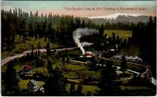 CANTARA, CA  California  SP Railroad Train at  CANTARA LOOP   c1910s  Postcard