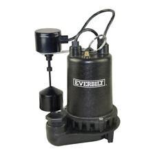 EVERBILT 3/4 HP CAST IRON SUMP PUMP PSSP07501VD
