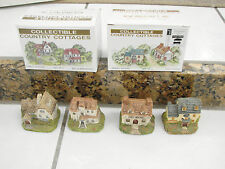 Collectible Country Cottages Rga Industries 1994 Carol Gordon Set of 4 / 2 boxes
