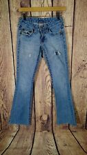 True Religion Womens Flared Jeans Ripped Size 24