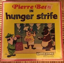 Vintage PIERRE BEAR IN HUNGER STRIFE, SUPER 8 B&W Silent CASTLE FILM #770