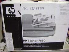 HP SCANJET 7650 L1940A USB FLATBED SCANNER ADF SLIDE AC ADAPTER USB IN BOX