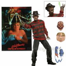 "NECA Freddy Krueger Action Figure Film A Nightmare on Elm Street 30th 7"" PVC Toy"
