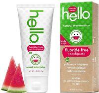 Hello Kids Fluoride Free Toothpaste, Natural Watermelon 4.20 oz