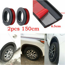 2X 150cm Black Universal Car Fender Wheel Eyebrow Anti-Scratch Protector Strip